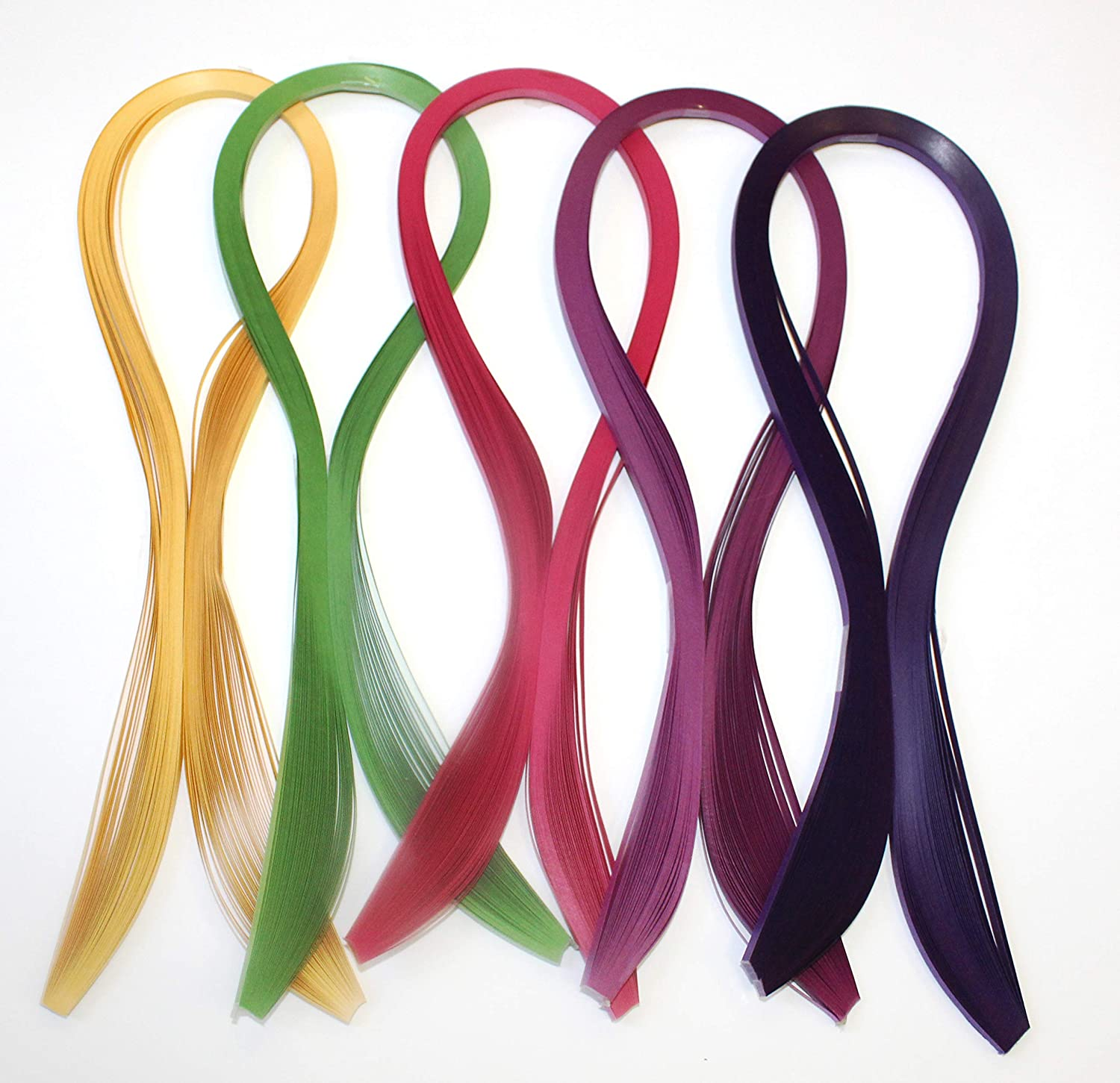 Paper Quilling Strips Set 5 Colors 250 Glistening 24