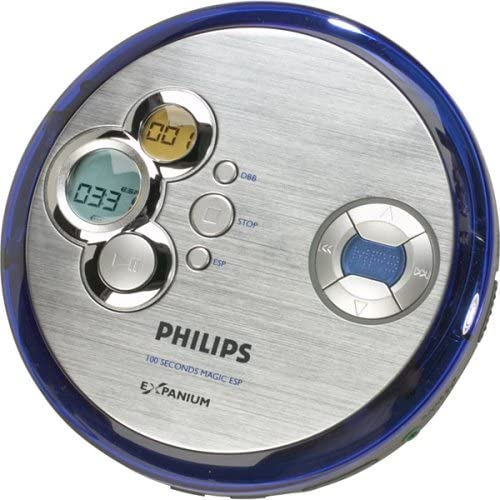 Philips EXP2461 Personal CD/MP3 Player with 100-Second Electronic Skip Protection