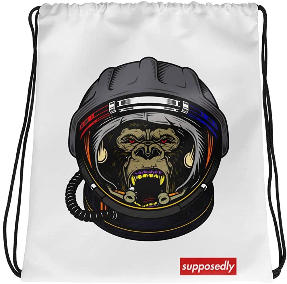 Supposedly Gorilla Drawstring bag