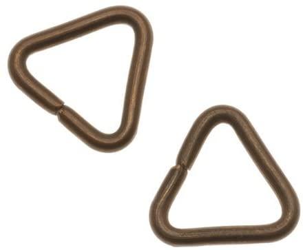 Vintaj Natural Brass Heavy Triangle Jump Rings/Bails 15mm 12 Gauge (2)