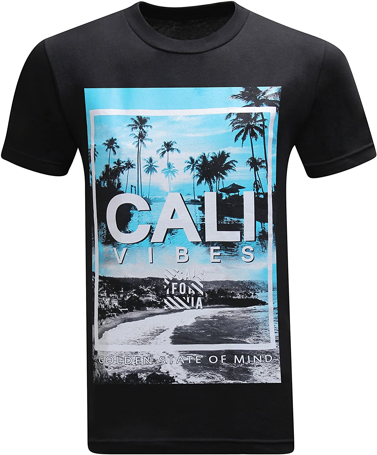California Republic Cali Vibes Golden State of Mind Mens T-Shirt