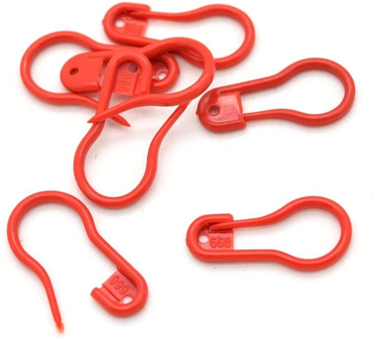 50pcs Plastic Safety Pins Knitting Crochet Locking Stitch Markers (Red)