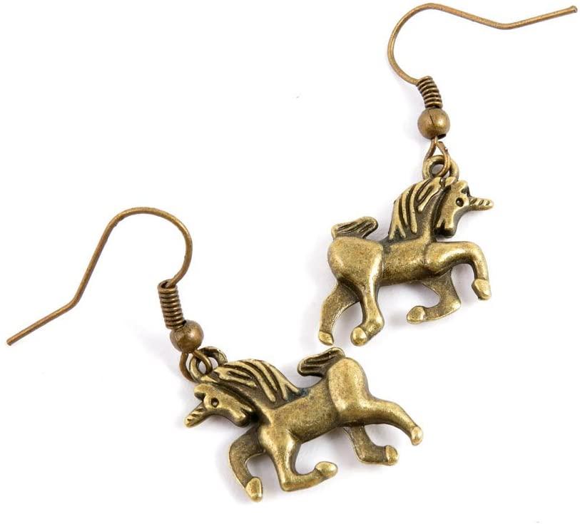 60 Pairs Jewelry Making Charms Supply Supplies Wholesale Fashion Earring Backs Findings Ear Hooks Q9TX3 Unicorn