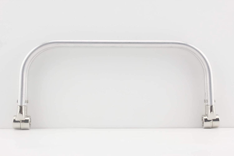 3DANCraftit 10 inch Silver Nickel aluminous Tubular Internal Hinge Doctor Bag Frame Purse Frame for Bag Making Z25
