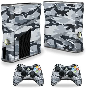 MightySkins Skin Compatible with X-Box 360 Xbox 360 S Console - Gray Camouflage | Protective, Durable, and Unique Vinyl Decal wrap Cover | Easy to Apply, Remove, and Change Styles | Made in The USA