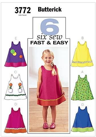 BUTTERICK PATTERNS B3772 Toddler's & Children's Dress, Size 4-5-6