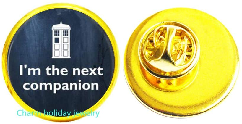 Jewelry-Glass Pin Brooch-Im The Next Companion-Quote Brooch,Motivational Wisdom Pin,Inspirational Jewelry-#295