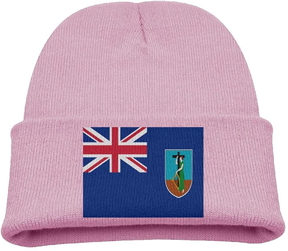 ZWZ Flag Of Montserrat Kid's Hats Winter Funny Soft Knit Beanie Cap Children Unisex