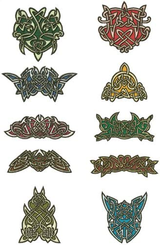 ABC Machine Embroidery Designs Set - Celtic Lace Ornaments - 10 Embroidery Designs - CD