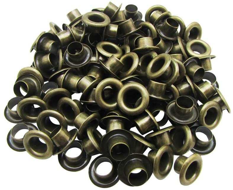 Amanaote 3.5mm Internal Hole Diameter Bronze Eyelets Grommets with Washer Self Backing Pack of 250 Sets
