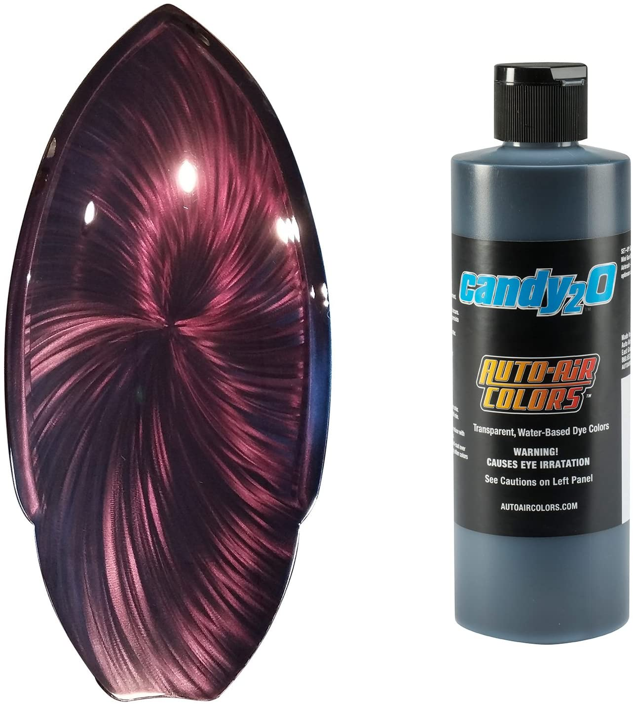 Createx Auto-Air Colors Candy2o Black 4664 8oz Waterborne Custom Paints