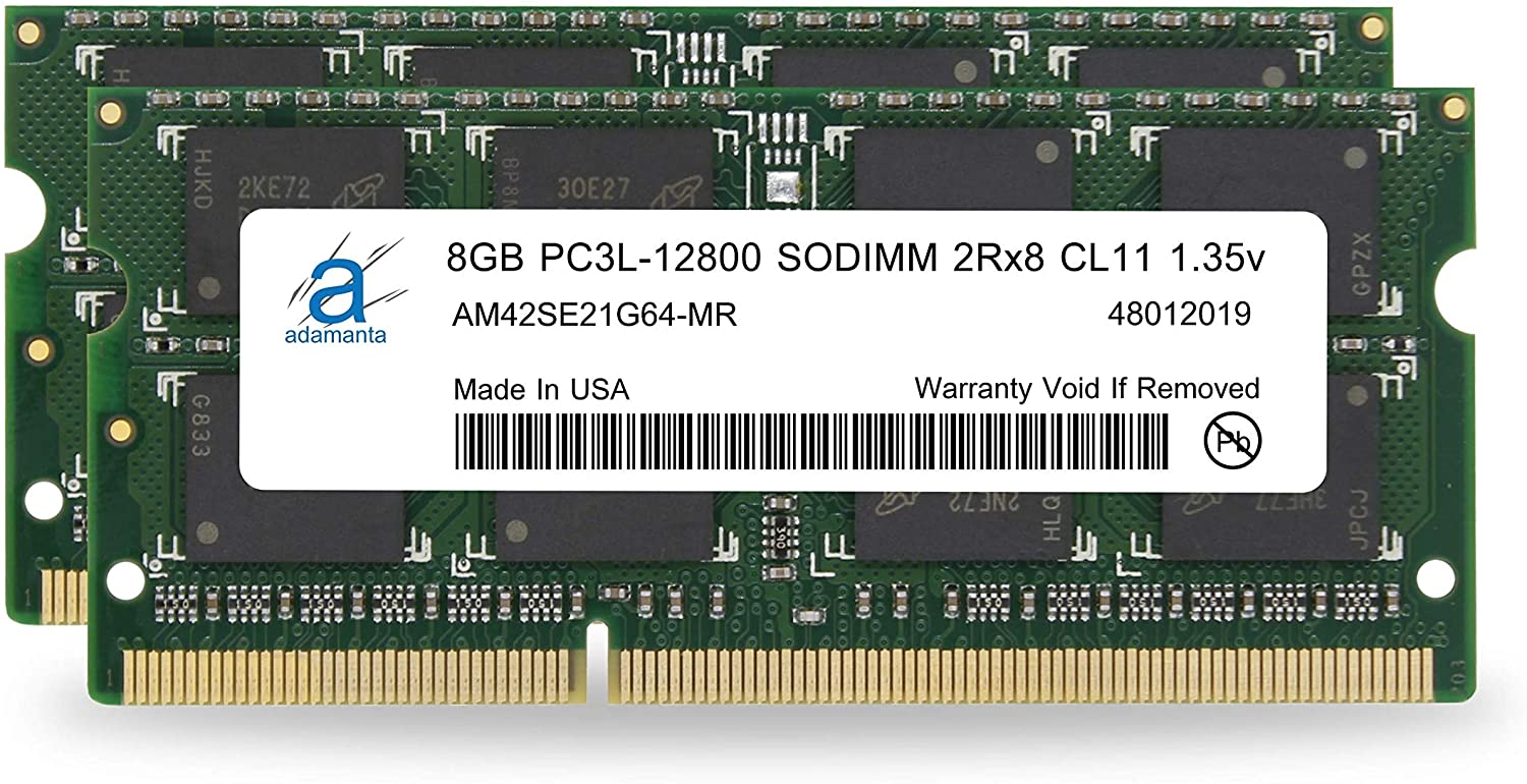 Adamanta 16GB (2x8GB) Laptop Memory Upgrade for ASUS Laptops DDR3L 1600Mhz PC3L-12800 SODIMM 2Rx8 CL11 1.35v Notebook RAM