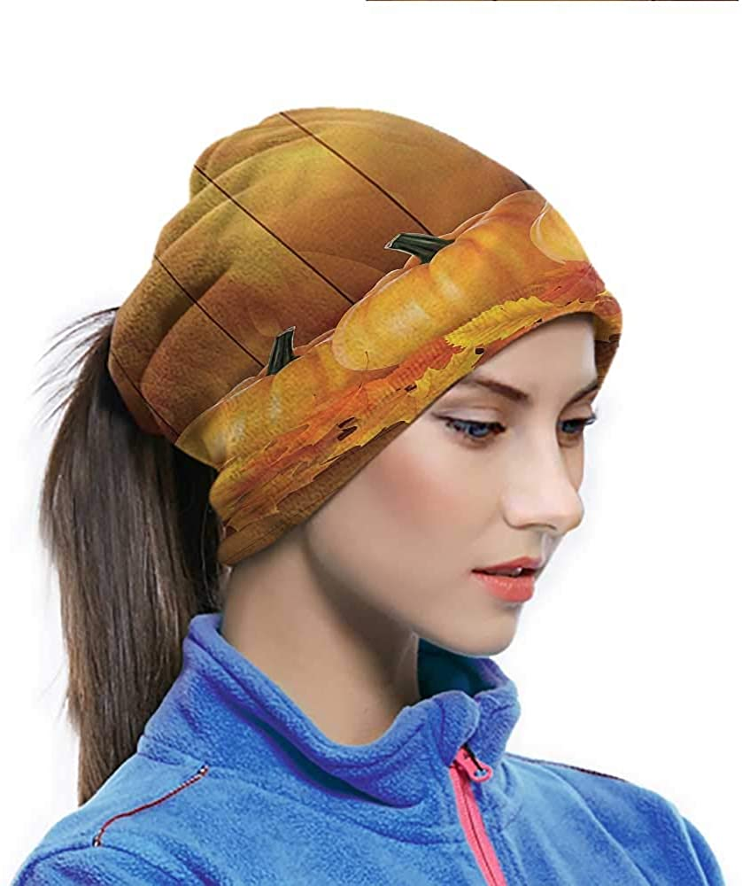 Cycling Scarf Harvest, Squash Pumpkins Wood Breathable Neck Cover for Dust Wind Proof, Anti-Spitting 10 x 11.6 Inch