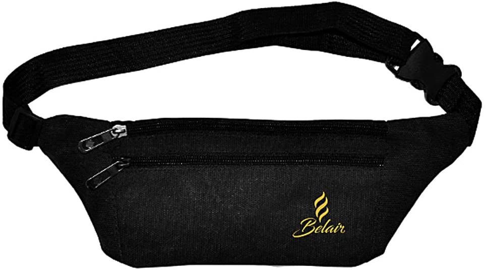 Belair Fanny Pack for Men and Women, Waist Pack Belt Bags with Adjustable Strap