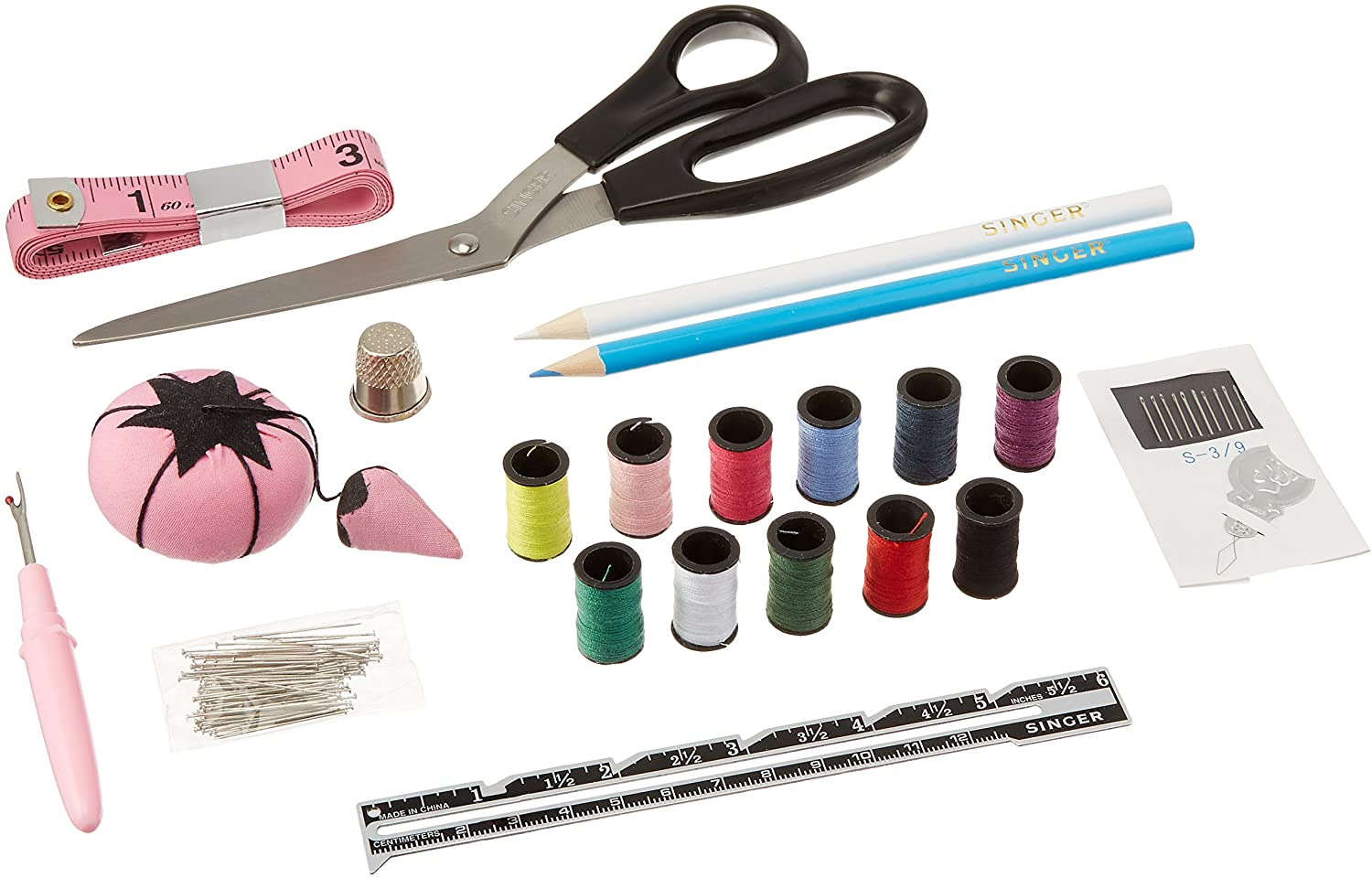 SINGER 01512 Beginners Sewing Kit, 130 pieces
