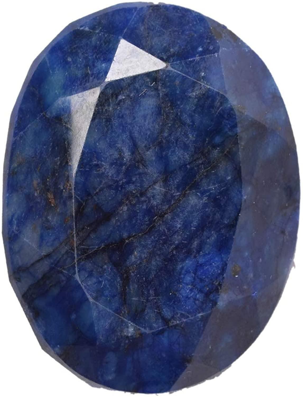 gemhub 378.50 Ct.Blue Sapphire Gemstone 43 X 35 mm Oval Cut September Birthstone Sapphire DO-613