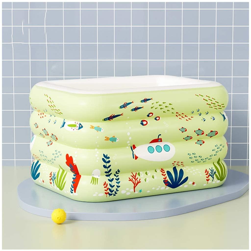 LZG Inflatable Kiddie Pool, Green Kids Swimming Pool Summer Water Fun Bathtub (Size : 140x108x70cm)