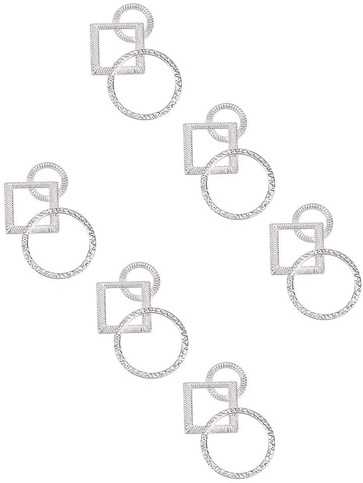 PH PandaHall about 200pcs Alloy Linking Rings 3 Parts on 1 Charms Circle Pendants for Jewelry Making Lead Free & Cadmium Free & Nickel Free 33mm