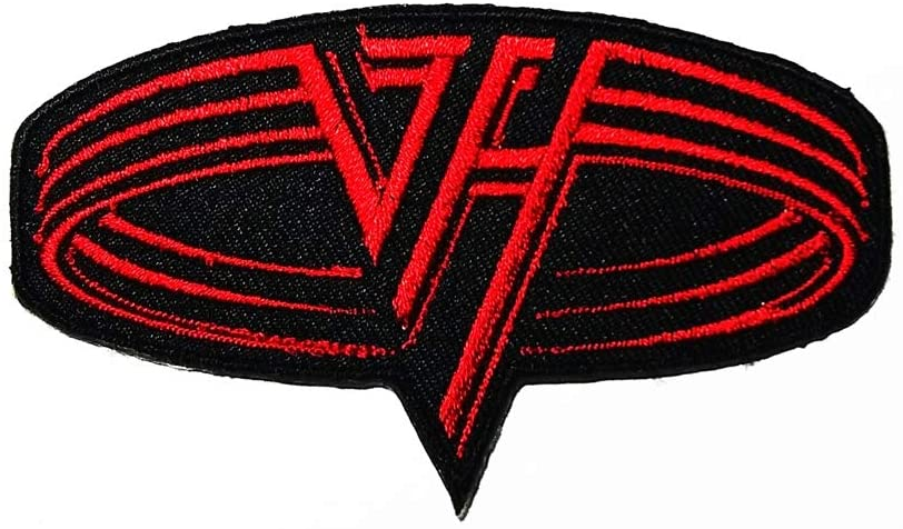 Music V Red American Hard Rock Heavy Metal Music Logo Patch Embroidered Sew Iron On Patches Badge Bags Hat Jeans Shoes T-Shirt Applique