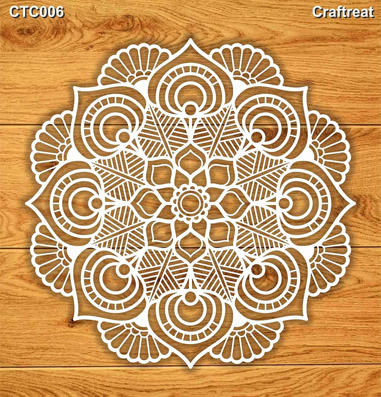 CraftreatLaser Cut Chipboard - Mandala I 5.5
