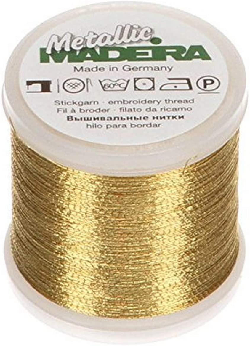 Tacony Corporation Madeira Metallic Thread 200 Meters-Medium Gold