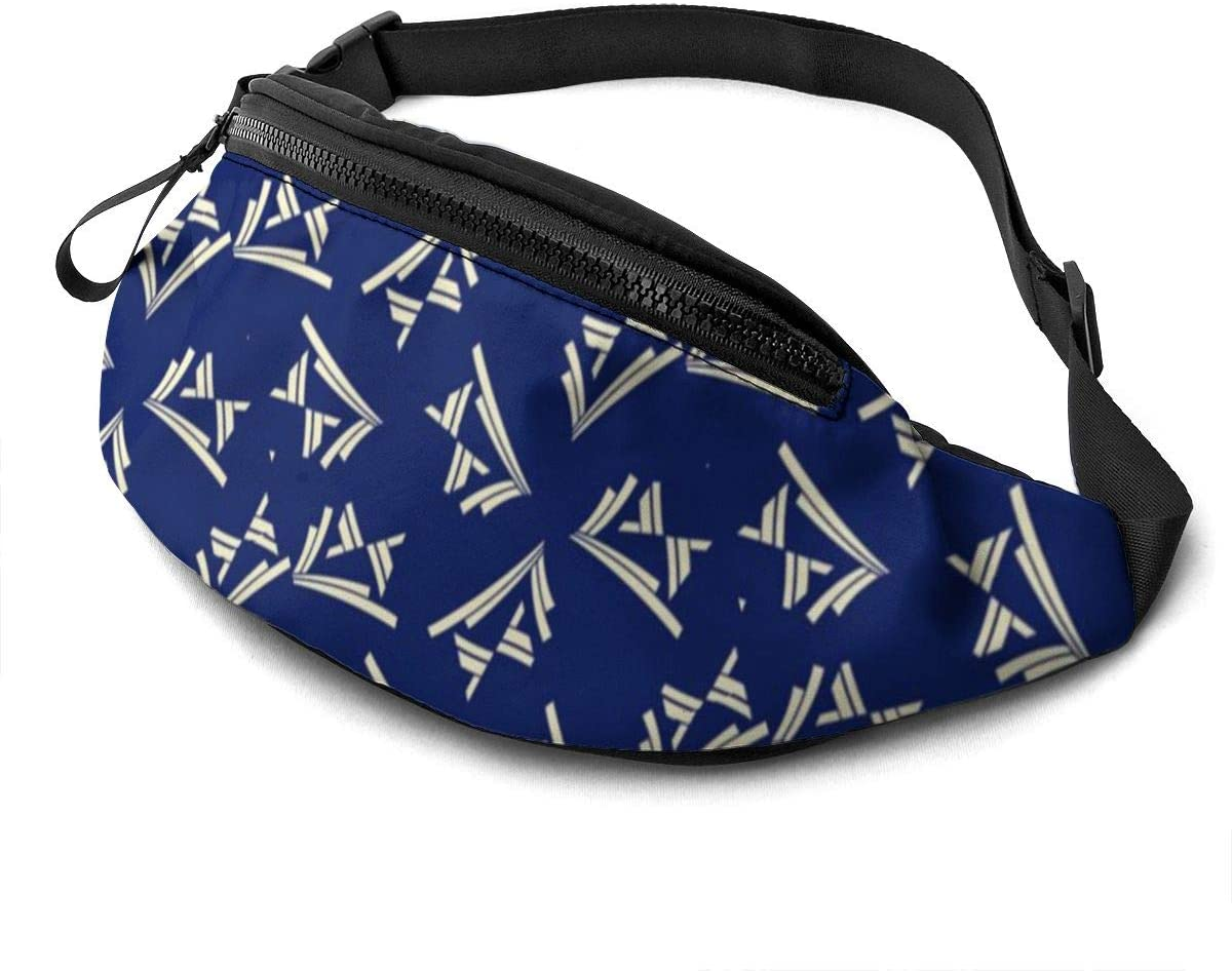 Chevrons Moderne Fanny Pack for Men Women Waist Pack Bag with Headphone Jack and Zipper Pockets Adjustable Straps