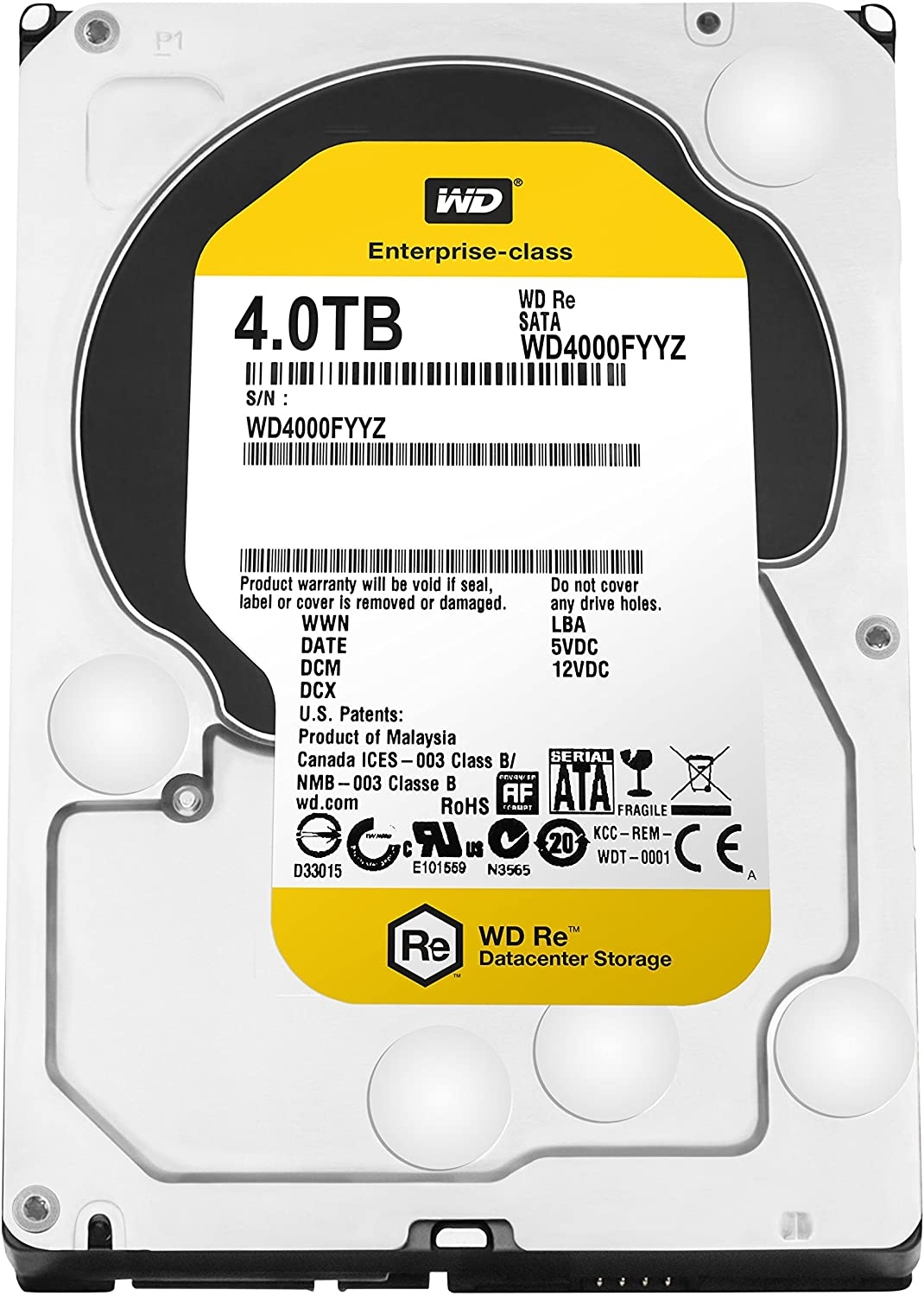 Western Digital RE WD4000FYYZ 4 TB 3.5 Internal Hard Drive