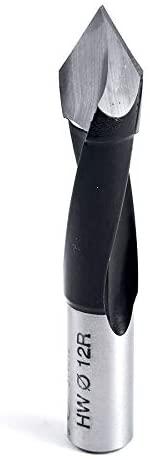 Amana Tool - 314012 Carbide Tipped Through-Hole Boring Bit R/H 12mm Dia x 70mm Long x 10mm