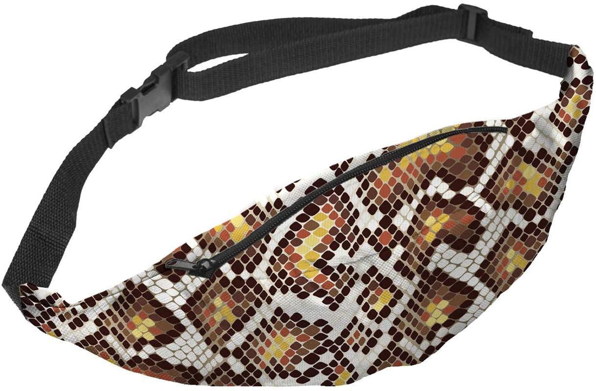 Ayliss Fanny Pack Fashion Snakeskin Print Waist Bag Running Bum Bag for Women