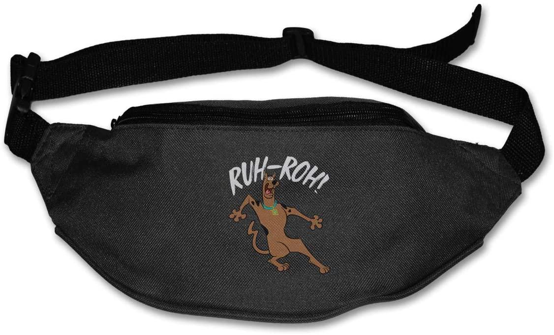 Sunlenvai Scooby-Doo Ruh-Roh! Pack Runners Belt Fanny Pack Running Belt Waist Black