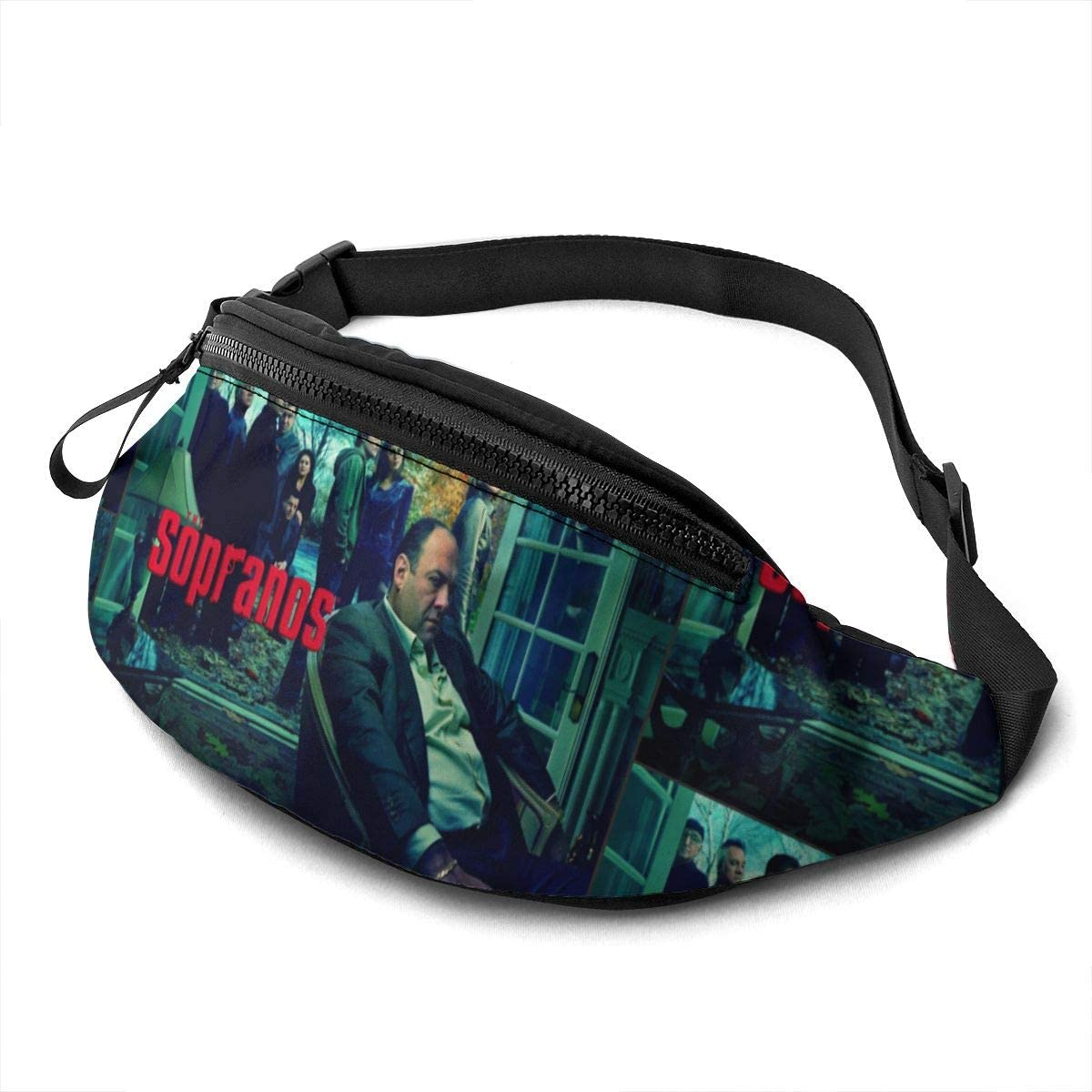 Qwertyi The Sopranos Unisex Running Waist Packs Casual Waist Bag, Can Hold Small Objects Such As Mobile Phones