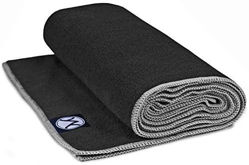 Youphoria Yoga Towel 24 x 72 - Microfiber Non Slip Hot Yoga Mat Towel - Skidless Grip, Ultra Soft and Sweat Absorbent