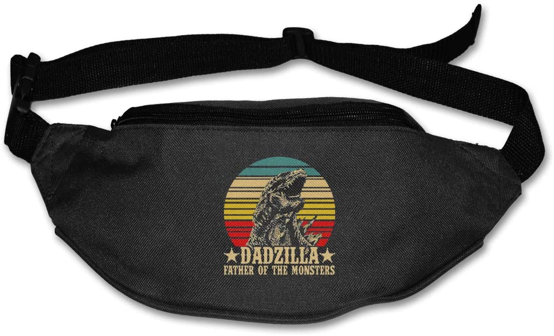 Liuqidong Dadzilla Father of The Monsters Waist Pack Bag Fanny Pack for Men&Women Hip Bum Bag with Adjustable Strap for Outdoors Workout Traveling Casual Running Hiking Cycling