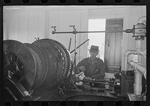 Photo: Diesel Engines at Electric Power Station Near Burrwood,Louisiana,LA,FSA,1938,2