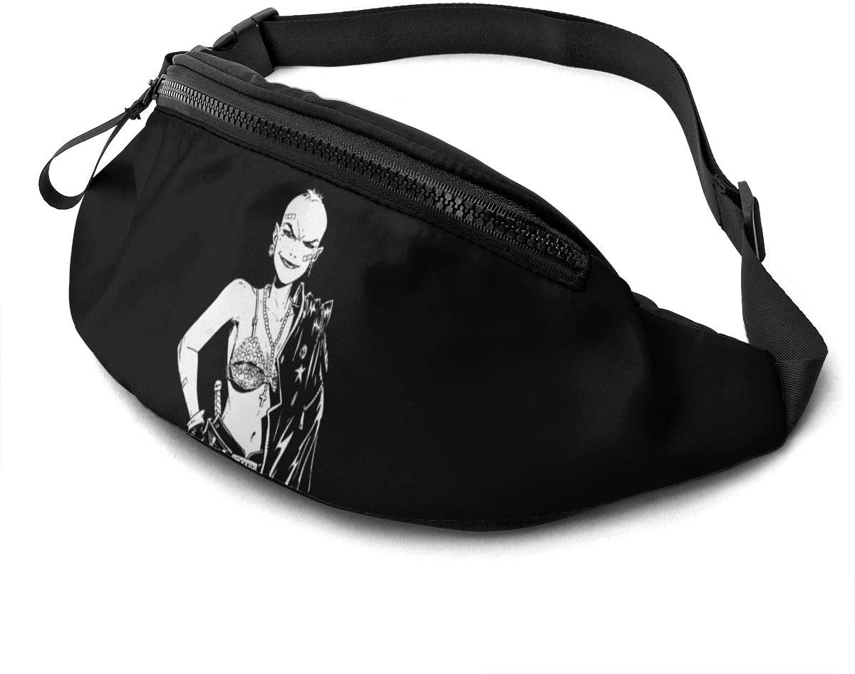 Qwertyi Tank Girl Unisex Running Waist Packs Casual Waist Bag, Can Hold Small Objects Such As Mobile Phones
