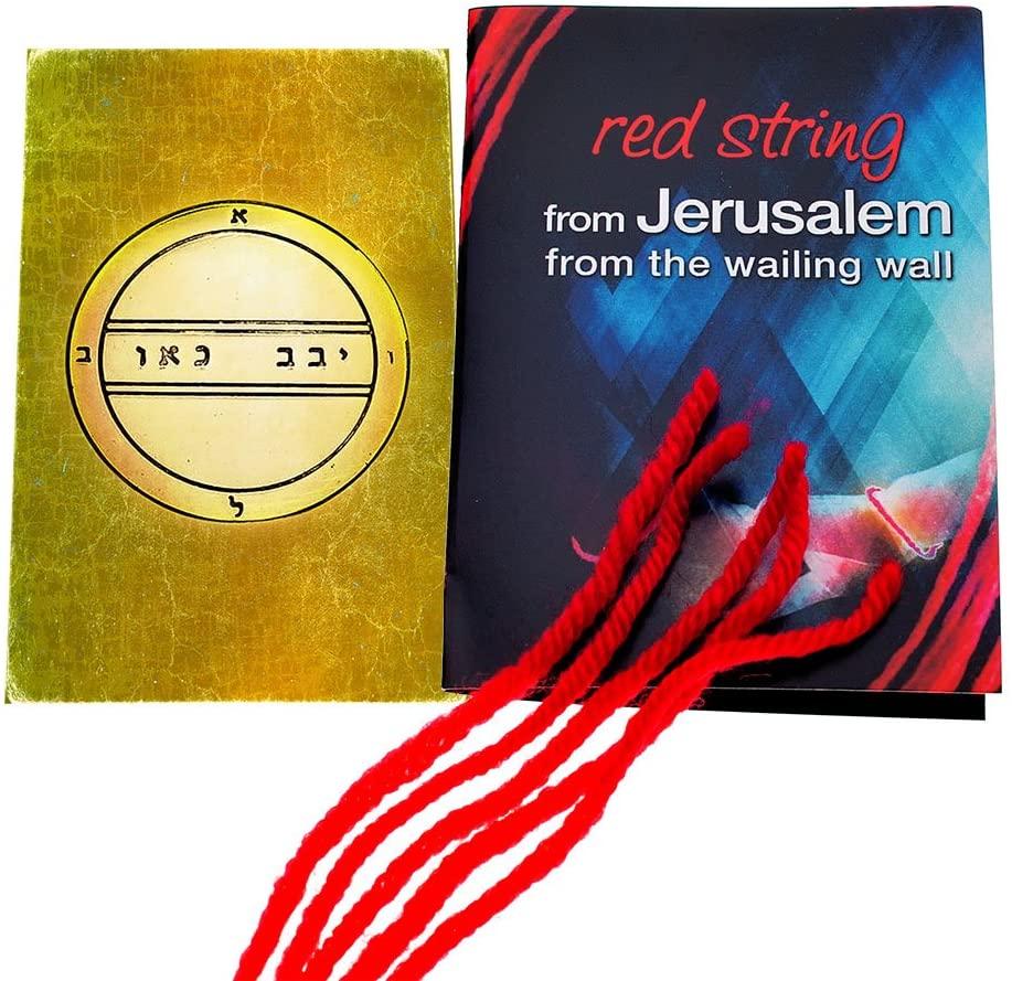 5 Kabbalah Red String Bracelets Blessed in Jerusalem with King Solomon Fertility Seal Amulet