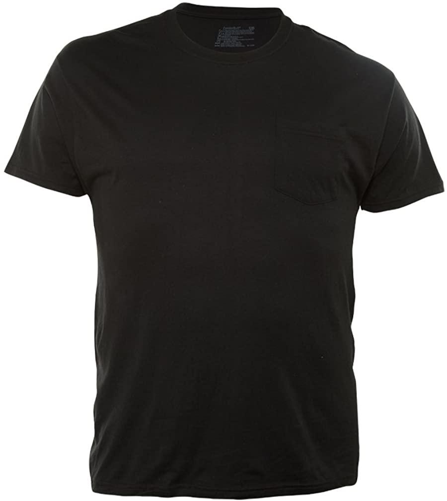 HANES PREMIUM Black 2P Dyed Pkt Tee - XL