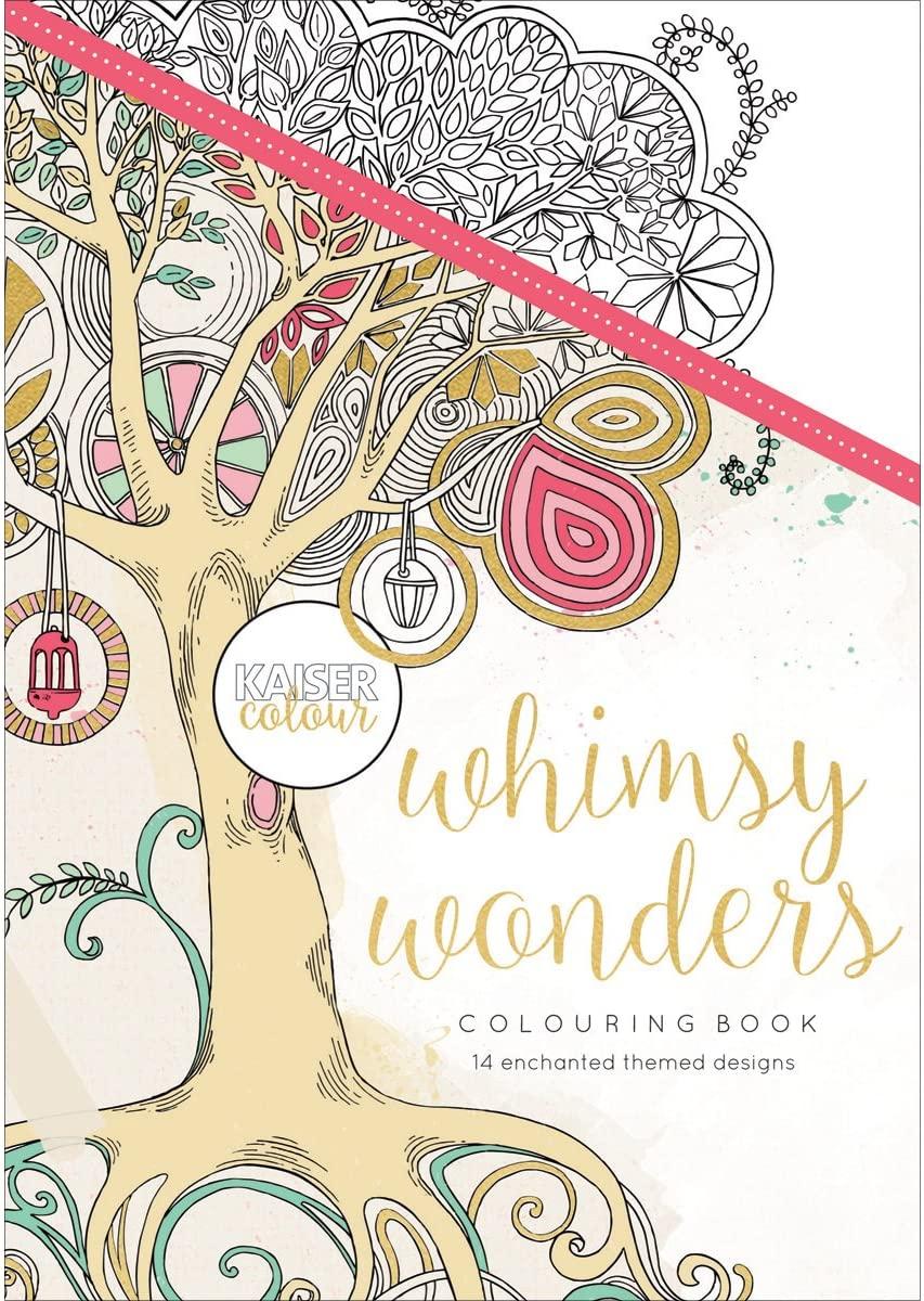 Kaisercraft Kaisercolour Coloring Book Whimsy Wonders, 14.47x20.82x0.25 cm, Multicolour