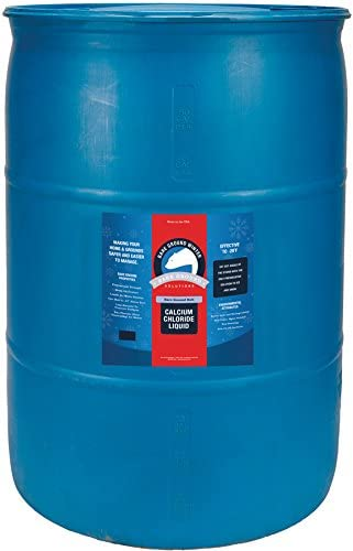 Bare Ground Winter Bare Ground Solutions Bare Ground Bolt BGB-55DC Fast-Acting CaCl2 Ice Melt Liquid for All Su, 55 Gallons in in Proffesional Drum, blue