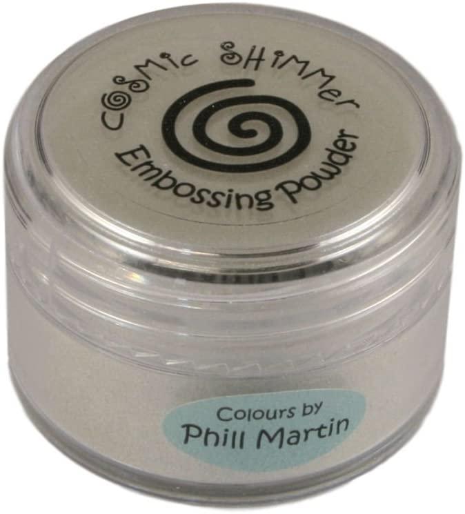 Cosmic Shimmer Phill Martin Designer Colour Embossing Powder 20ml - Platinum