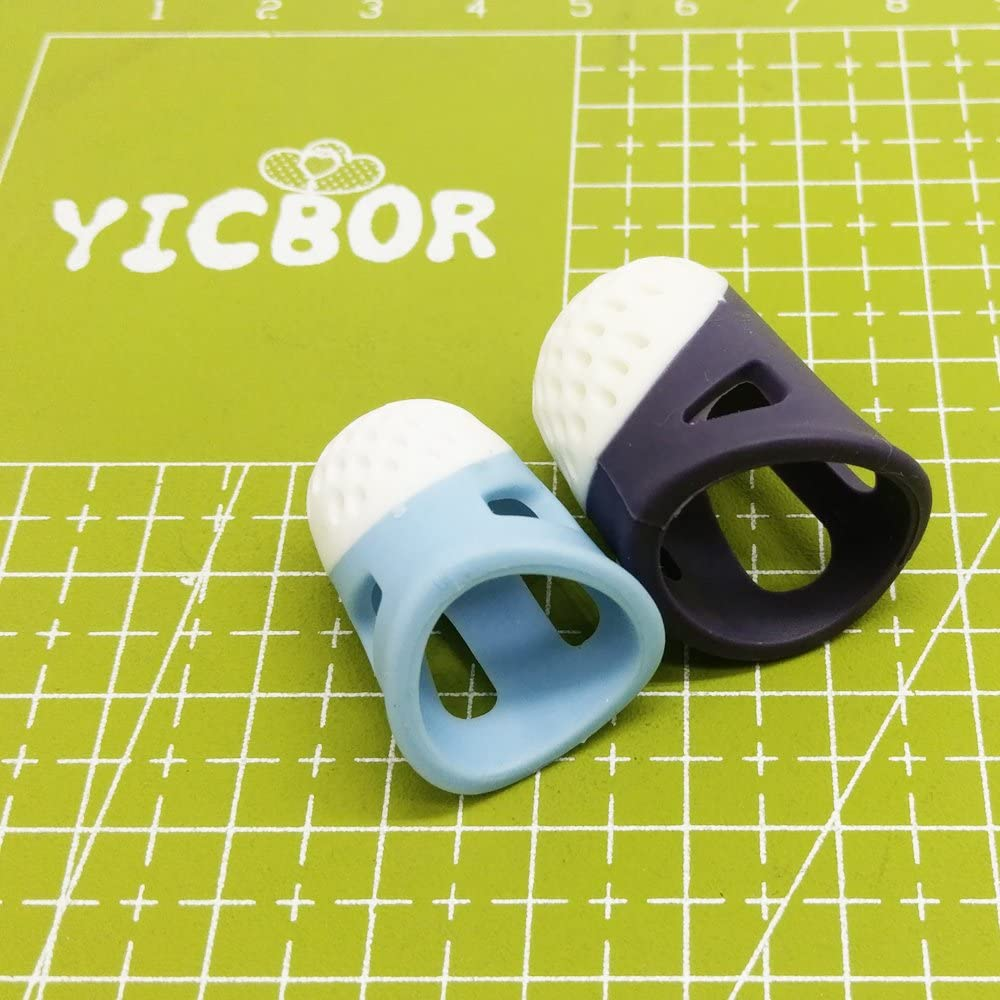 YICBOR Household Sewing DIY Tools Thimble Finger Protector Quilting Craft Accessories Comfortable Non-Slip FT0821 Thimble Finger (FT-0821-SET)