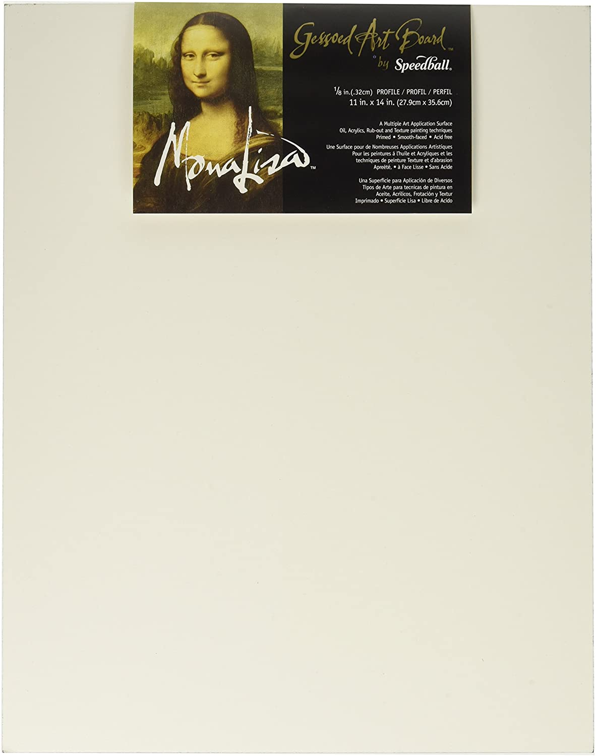 Speedball C953 10306 Mona Lisa 11-Inch-by-14-Inch Gessoed Art Board