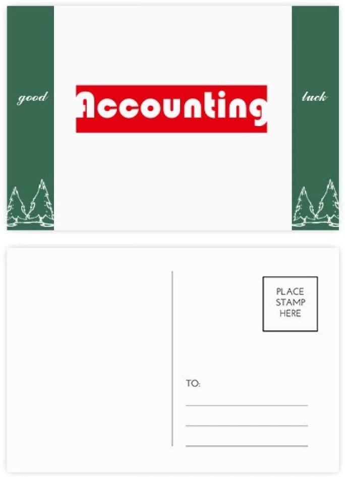 Course And Major Single Word Accounting Red Good Luck Postcard Set Card Mailing Side 20pcs