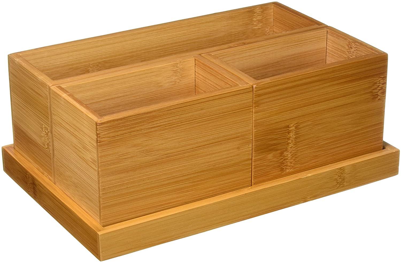 Lipper International 1809 4 Piece Organizer 1 Tray (3 Box), Multicolor