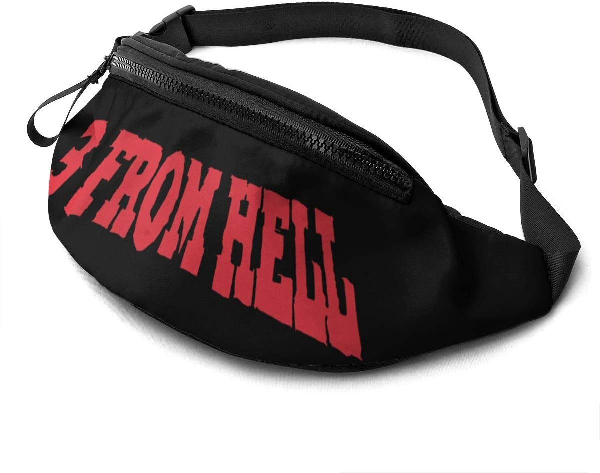 Qwertyi 3 from Hell Unisex Running Waist Packs Casual Waist Bag, Can Hold Small Objects Such As Mobile Phones