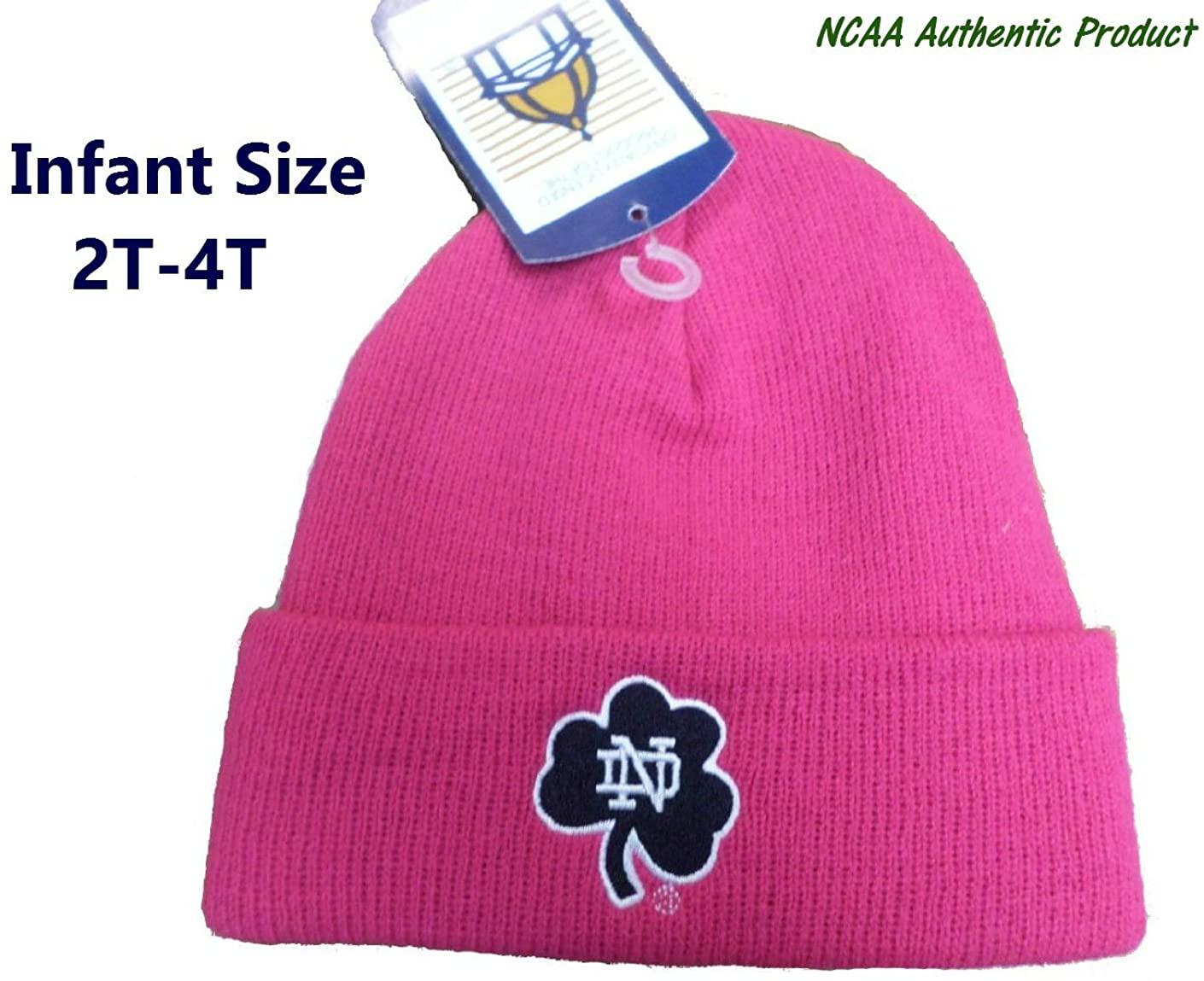 Notre Dame Fighting Irish Toddler (2T-4T) Knit Cuff Beanie Pink Hat Cap