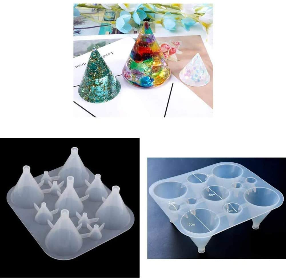 Resin Silicone Casting Molds Epoxy Crystal Resin Molds Jewelry Box Molds for Resin Casting, Jewelry Making, Aromatherapy Candle Making 11-Slot (Conical)
