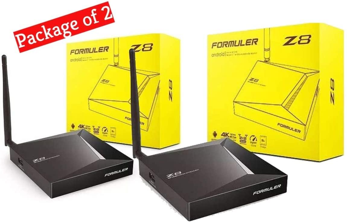 { Package of 2 } FORMULER Z8 Android Dual Band 5G Gigabit LAN 2GB RAM 16GB ROM 4K ( Pack of 2 }