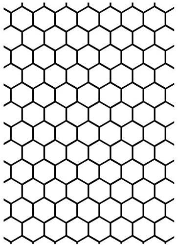 Darice Embossing Folder, 5 by 7-Inch, Honeycomb