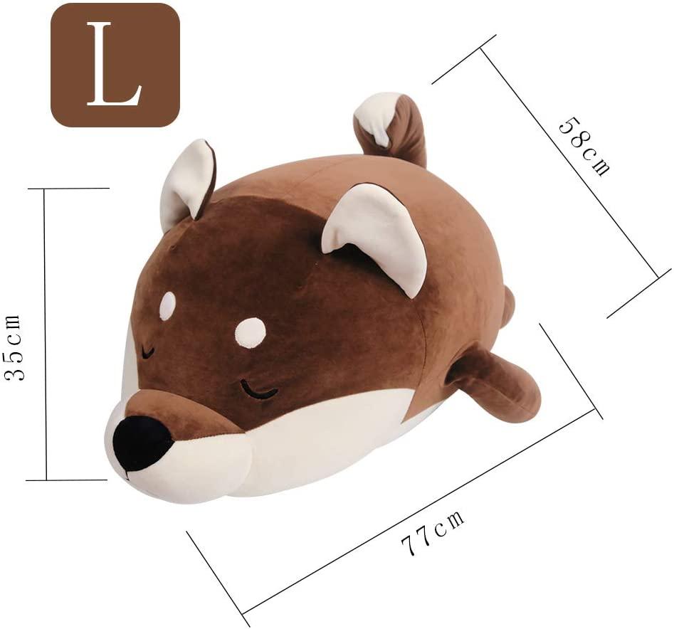TOYEER Plush Dog Type Toy Comforting Animal Pillow Gifts for Girls & Kids (L)